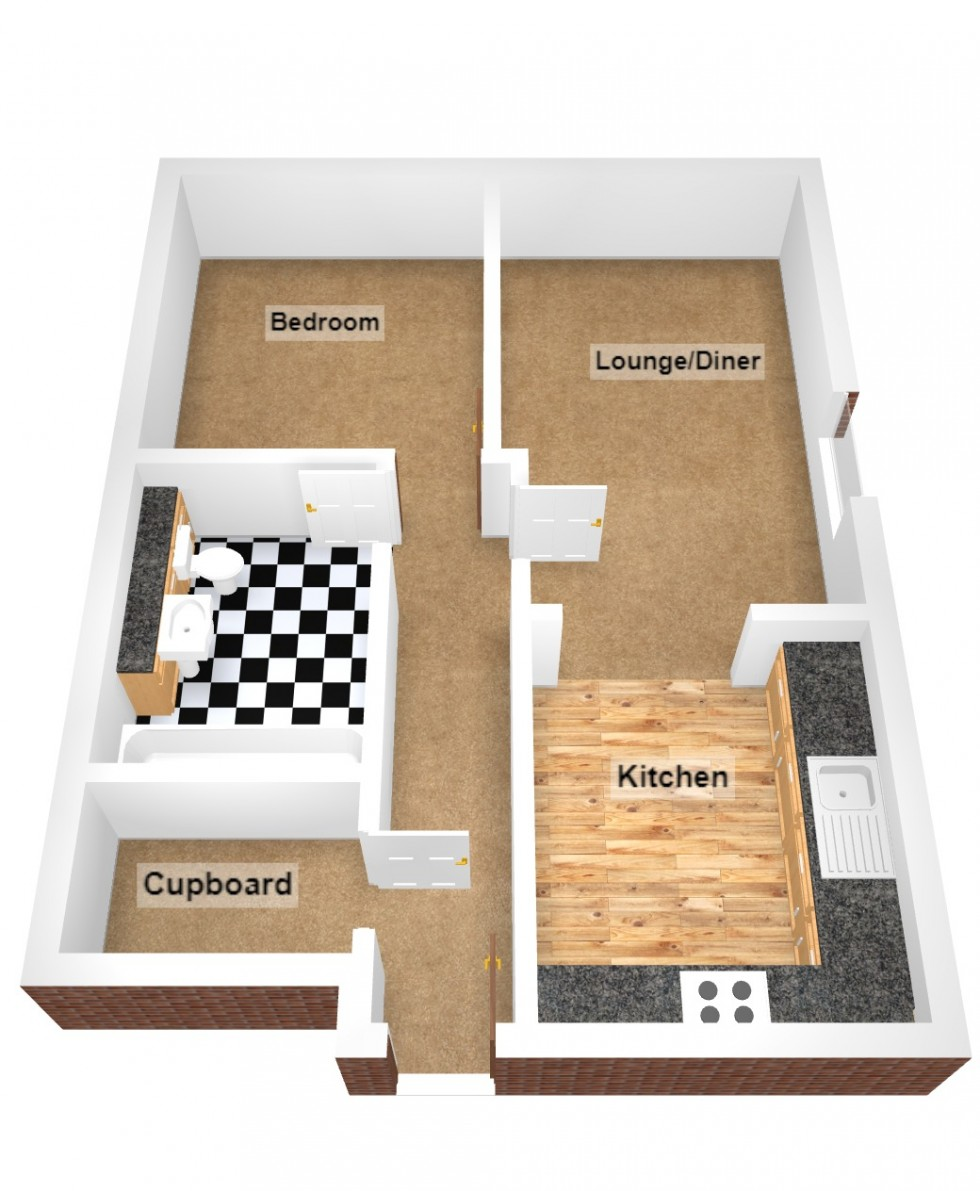 Floorplan for Sophia Court, King Edward Road, Rugby
